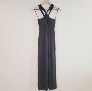 Banana Republic Black Strappy Maxi Dress Size S